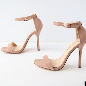 Lulu's classic single strap Elsi nude sandal 7